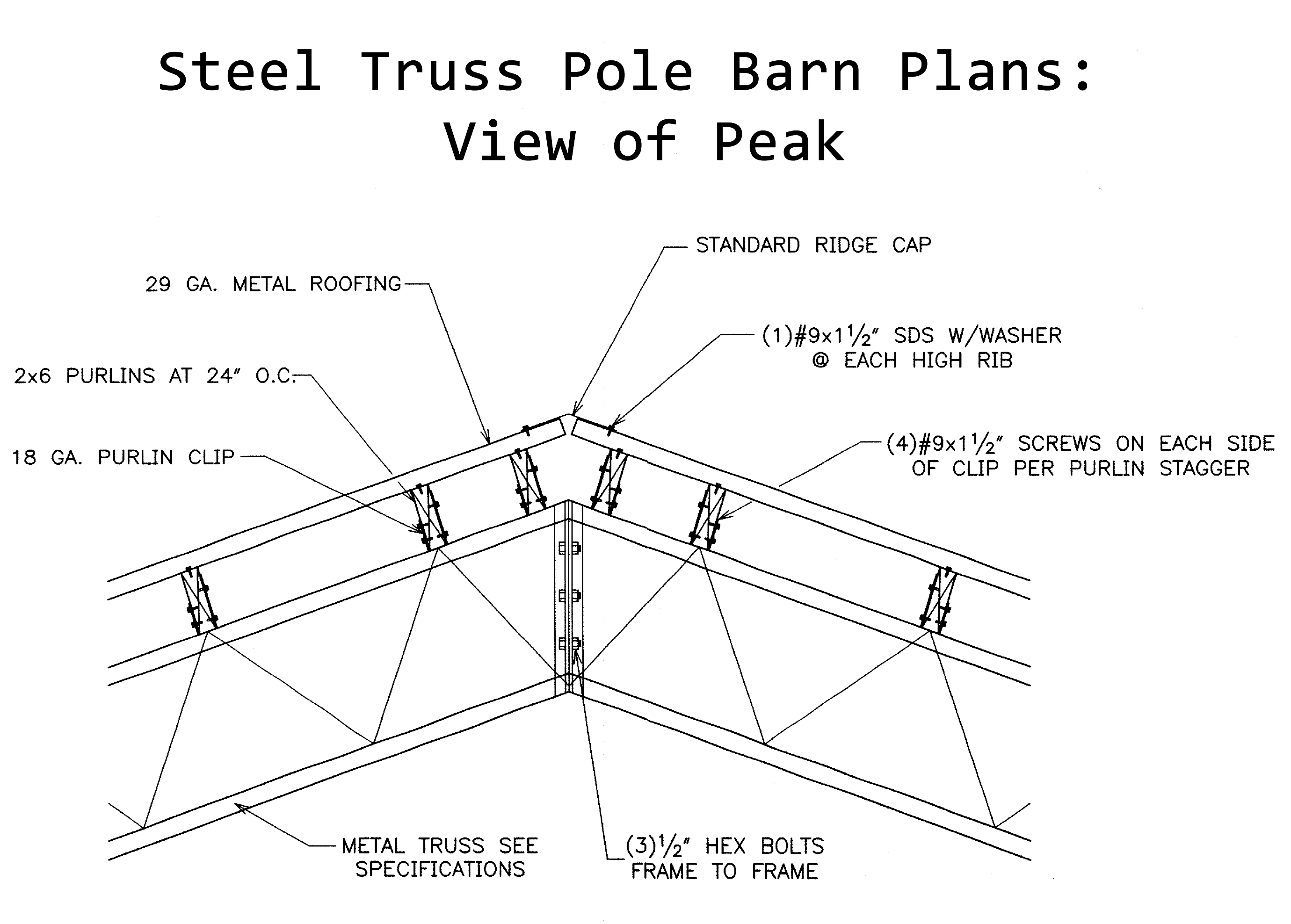 Engineered plans for pole barn joy studio design gallery for Pole barn blueprints free